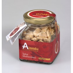Almendra marcona repelada baja en sal con oregano - ecoato - Tarro de vidrio 150 gr