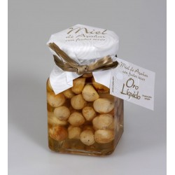 Miel de azahar con avellana tostada - Oro liquido - Tarro vidrio 190 gr