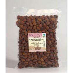 Almendra marcona piel ecológica frita con sal - ecoato - Bolsa vacío 1 kg