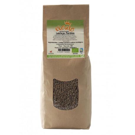 Lenteja pardina - ecoato - bolsa papel 1 kg