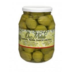 Aceituna gordal reina - Oro molido - Tarro vidrio 600 gr