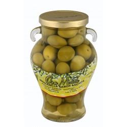 Aceituna manzanilla - Oro molido - Orza cristal 350 gr