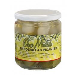 Banderillas picantes - Oro molido - Tarro vidrio 160 gr