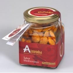 Almendra marcona repelada baja en sal con pimentón dulce - ecoato - Tarro de vidrio 150 gr