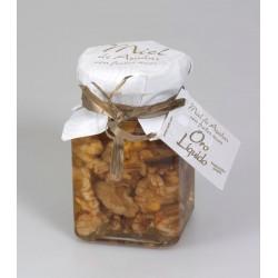 Miel de azahar con nueces - Oro liquido - Tarro vidrio 190 gr