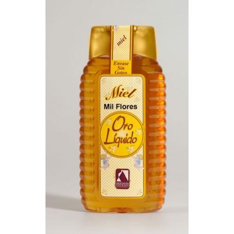 Miel de mil flores - Oro liquido - Bote pet dosificador 500 gr