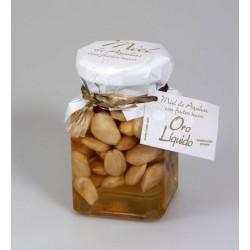 Miel de azahar con almendra tostada - Oro liquido - Tarro vidrio 200 gr