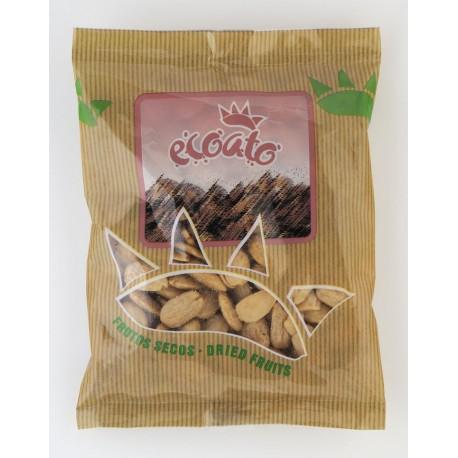 Almendra comuna repelada ecológica frita con sal - ecoato - Bolsa 250 gr