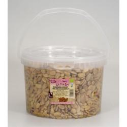 Almendra comuna repelada ecológica frita con sal - ecoato - Cubo 5 kg