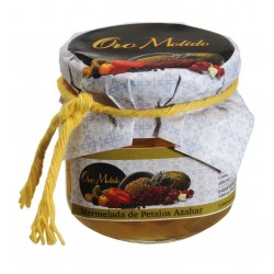 Mermelada de petalos de azahar - Oro molido - Tarro vidrio 210 gr