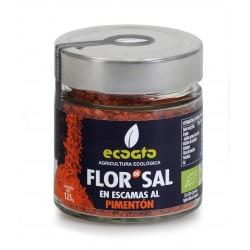 Flor de Sal en escamas al pimentón ecológico.