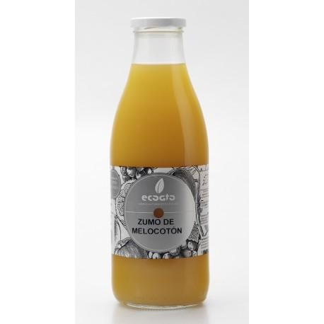 Zumo de melocotón ecológico - Oro molido - Botella de vidrio 1 l