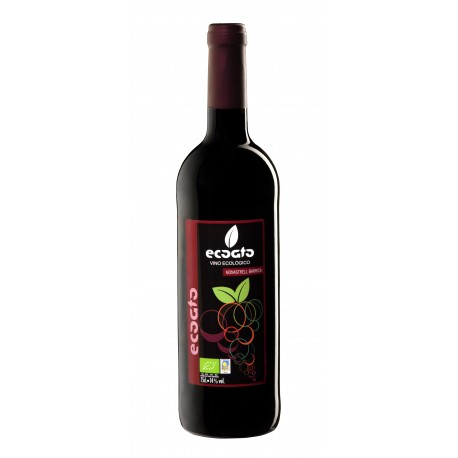 Vino ecológico monastrell barrica - ecoato - Botella de vidrio 75 cl