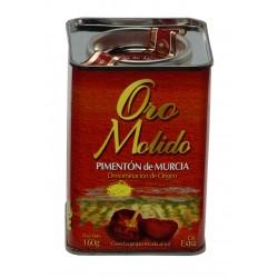 Pimenton desrabado d.o. región de Murcia - Oro molido - lata 160 gr