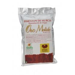 Pimenton desrabado d.o. Región de Murcia - Oro molido - Bolsa metalizada 250 gr