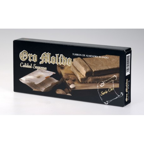 Turron blando de almendra - Oro molido - Pastilla 300 gr
